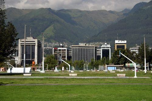 Parque La Carolina courts in downtown Quito Ecuador